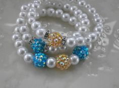 Sparkling Set of 3 Children's Bracelets in by MECODesignsJewelry, $15.00