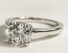 can't go wrong with a solitaire ring.