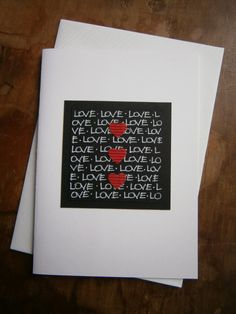 I Love You Card/Special Occasion Card by CrimsonRoseCottage, $5.00