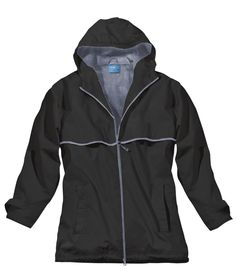 Charles River Apparel Style 5099 Women's New Englander Rain Jacket - Black/Reflective #CharlesRiverApparel #raincoat