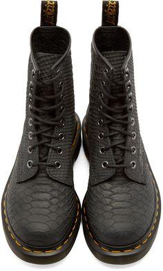 promo code b57a1 9d2a2 Dr. Martens Black Python 8-Eye 1460 Boots Botas Dr Martens,