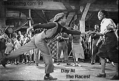 """Whitey's Lindy Hoppers in a scene from """"Day at the races"""" with the Marx Brothers"""