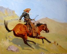 """after Frederick Remington's """"The Cowboy"""" 11x14 oil/panel Sometimes studying the art of a painter that you admire can be extremely benefic..."""