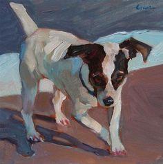Sea Dog Run - Original Fine Art for Sale - © Maryann Lucas