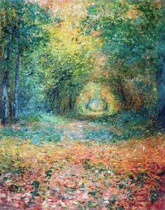 Sous-Bois dans la forêt de Saint-Germain (C Monet - W 750),1882.