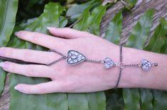 victorian heart slave bracelet  hearts  by gildedingypsy on Etsy, $28.00
