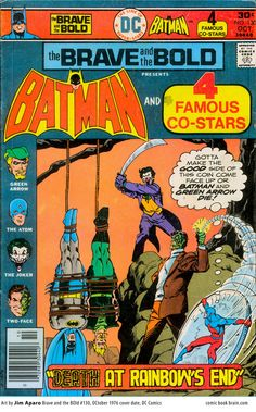 The Brave and the Bold #130 DC Comics, Batman, Joker, Two-Face, Atom, Green Arrow, bound men