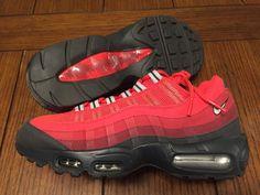 buy popular d26fc 377fe Nike Air Max  95 Dark Ash Metallic Silver Team Red Gym Red 609048 202 Size  9   eBay