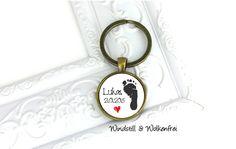 Schlüsselanhänger+Personalisierbar+♥Geburt+Baby♥+von+Windstill+&+Wolkenfrei+-+Einzigartiger,+handgemachter+Schmuck+für+einzigartige+Menschen+auf+DaWanda.com