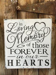 In loving memory wall decor