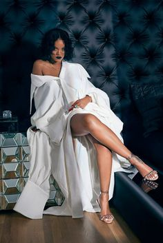 Rihanna x Manolo Blahnik So Stoned campaign Purple Chalice sandal