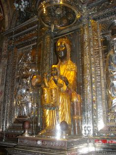 """""""The Statue of the Black Madonna"""" Montserrat ( 6 Sept 10) • Monica turned 25 4 days later"""