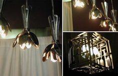 francois legalt. Pesquisar últimos 14 colheres em um brechó e montar estas lâmpadas com uma torção
