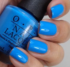 Opi no room for the blues…cause i'm feeling blue nail polish Get Nails, Fancy Nails, Trendy Nails, How To Do Nails, Cute Nail Polish, Opi Blue Nail Polish, Gel Polish, Bright Blue Nails, Shellac Nails