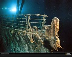 "Love Titanic ""Rusticles"" coat the railing of the R. Still taken from our National Geographic DVD of the week, Titanic Collection. Rms Titanic, Titanic Wreck, Titanic Photos, Titanic Sinking, Titanic History, Titanic Today, Lego Titanic, Titanic Museum, Titanic Ship"
