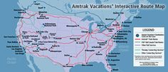 """""""Where do you want to go?"""" Check the Map at @AmtrakVacations for #Plan2Travel USA & Canada #Vacations from @amtraktravels"""