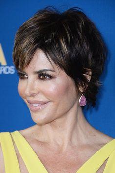 Lisa Rinna short tapered hairstyle