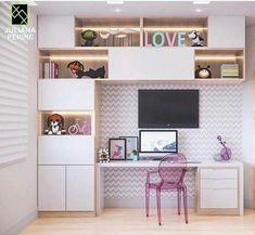 Amazy Modern Minimalist Living Room Design Ideas for Inspiration Study Room Decor, Study Room Design, Home Room Design, Kids Room Design, Home Office Design, Home Office Decor, Small Room Bedroom, Bedroom Decor, Interior Design Living Room