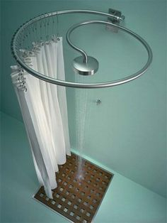 The Pluviae shower by Rapsel. I love this because it's a shower and curtain rail all in one. Minimal fuss, minimal space!