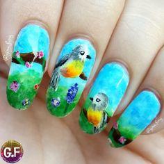 Instagram media by gina_fang - Please meet my weird birds  #thenailartstory #nailpromote #nailartpromote #nailartoohlala #seizethenail #weloveyournailart #craftyfingers #nailitdaily #sgnailartpromote #freehand #girlynailsdeluxe #nailartclub #nails4yummies #nails2inspire #nailartwow #kuteksjunkies #lovelyandpolished