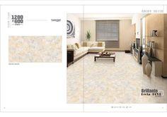 Millennium Tiles 600x1200mm (24x48) Digital Brilliante Recta PGVT Porcelain Floor Tiles Single Series.  - Ebony Beige