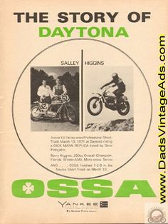 1971 Ossa Motorcycle Story of Daytona – Salley / Higgins