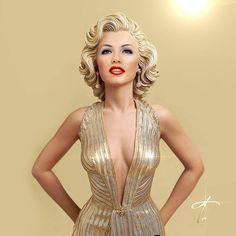 Thalia as #MarilynMonroe