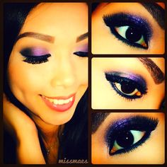 Beautiful eye shadow & lashes :)