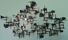 Modern metal square nail wall sculpture by artist Corey Ellis mid century ultra modern abstract contemporary nude brutalist  mcm vintage retro wall sculpture pop art metal danish eames curtis jere william bowie harry balmer paul evans harry bertoia herman miller bronze braze antique artisan house marcs creates banksy Vincent van Gogh andy warhol jackson pollock Pablo Picasso Salvador Dalí Roy Lichtenstein Margaret Keane Mark Rothko Willem de Kooning  Dale Chihuly peter lik