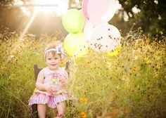 Whimsy & Style-Colorado Springs photography.  One year birthday photos