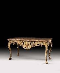 A RÉGENCE GILTWOOD CENTER TABLE, CIRCA 1725 | TABLE DE MILIEU EN BOIS REDORÉ D'ÉPOQUE RÉGENCE, VERS 1725 | Style2020 | Sotheby's Circa, Center Table, Marble Top, Console Table, Entryway Tables, Im Not Perfect, Restoration, Carving, Home Decor