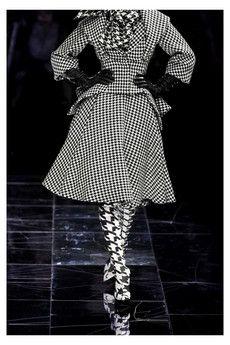 Alexander McQueen houndstooth skirt suit