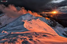 """Winter + Sunset = """"Between Hell and Heaven"""" by Fabio Marchini, via 500px"""