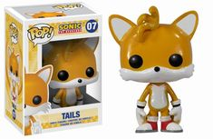 "From the Sonic the Hedgehog video game series from Sega, Sonic's two-tailed fox sidekick has been given the Pop! Vinyl treatment with this Sonic the Hedgehog Tails Pop! Miles ""Tails"" Prower stands 3 tall, and makes a great gift Pop Vinyl Figures, Vinyl Toys, Funko Pop Vinyl, Vinyl Art, Goodies Manga, Tails Sonic The Hedgehog, Animatronic Fnaf, Funko Pop Dolls, Pop Figurine"