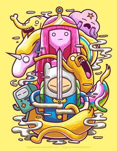 Adventure Time by hora de aventura Adventure Time Anime, Adventure Time Wallpaper, Adventure Time Poster, Adventure Time Background, Adventure Time Drawings, Adventure Cartoon, Adventure Time Season 1, Adventure Time Crafts, Adventure Time Tumblr