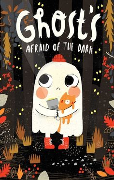 Get ready for Halloween with spooky and humorous children's book illustrations by leading picture book artists at Astound! Ghost's Afraid of the Dark by Alex Willmore Halloween Illustration, Art And Illustration, Illustration Mignonne, Book Illustrations, Illustration For Children, Book Cover Design, Book Design, Art Halloween, Kawaii Halloween