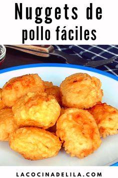 Nuggets de pollo caseros muy crujientes por fuera y muy jugosos y tiernos por dentro, aprende como hacer esta receta de pollo que gusta tanto a niños como a mayores #lacocinadelila