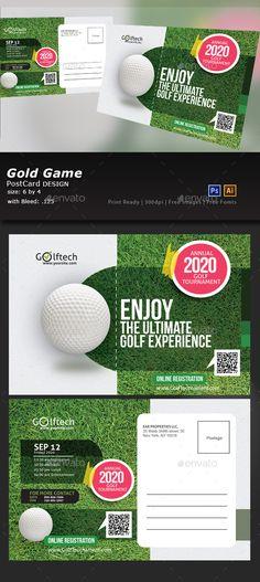 Golf Tournament Post Card Template PSD
