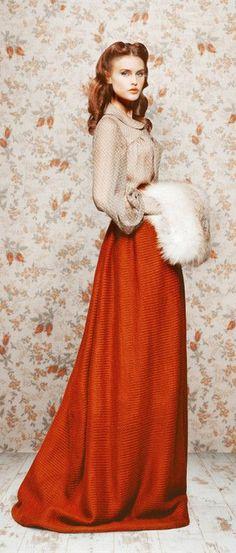 Ulyana Sergeenko F/W '11 look book(13)--Коллекция Ulyana Serge_听风者 - 美丽鸟