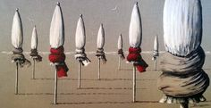 Photo du tableau Parasols de Deauville fond lin