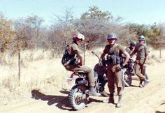 Bike squad near Okongo Military Photos, Military History, Once Were Warriors, West Africa, South Africa, Defence Force, Tactical Survival, My Heritage, African History