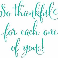 Happy Thanksgiving! We are so thankful for...Y-O-U!