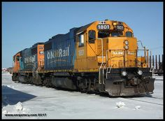 GP38-2's 1801 & 1806 teamed up at Cochrane Shops March 12th.