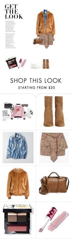 """Untitled #62"" by craftsperson ❤ liked on Polyvore featuring American Eagle Outfitters, MANGO, Moschino, Fendi, Bobbi Brown Cosmetics and Lime Crime"