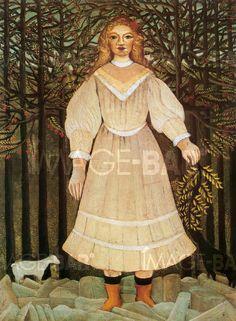 Jeune Fille en rose - Henri-Rousseau - 1893-1895 Musée: Philadelphia Museum of Art