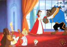 Disney Store Litho Beauty And The Beast Enchanted X-Mas