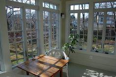 enclosed porch ... lots of windows ... lots of light.  :)
