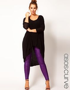 ASOS CURVE Exclusive Pleated Leggings - Love the look minus the heels replace with black converse