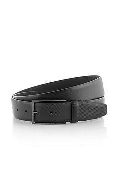 Cintura 'Carmello-S' in pelle di vacchetta stampata, Nero