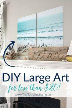 DIY Large Art for less than $20!